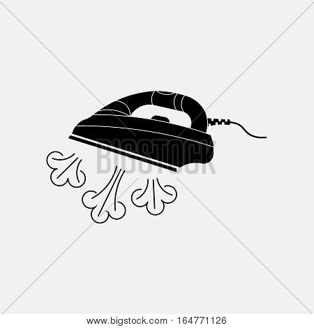 icon steam irons, laundry, linen utuzhka, fully editable vector image