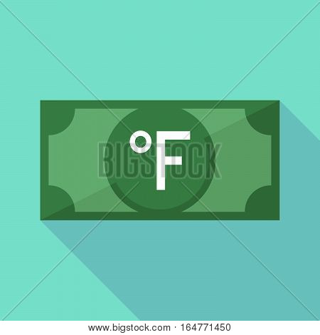 Long Shadow Bank Note With  A Farenheith Degrees Sign