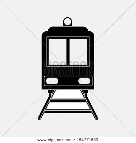icon train, railway, train, travel, sticker label fully editable vector image