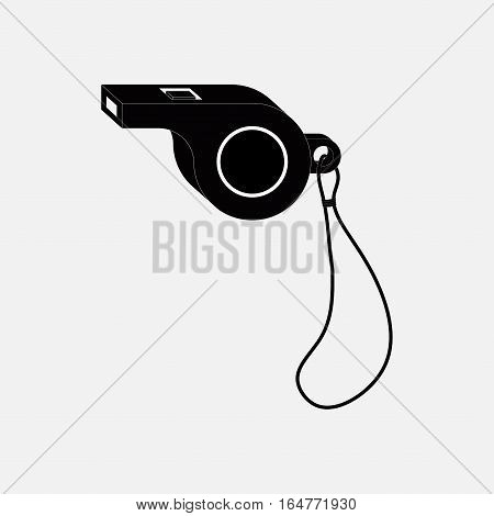 icon whistle, sporting events, a judge, coach, fully editable vector image