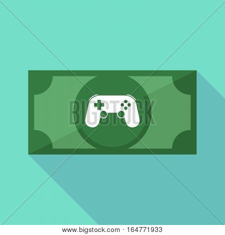 Long Shadow Bank Note With  A Game Pad
