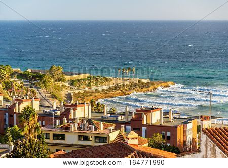 View of the Mediterranean Sea at Tarragona - Spain