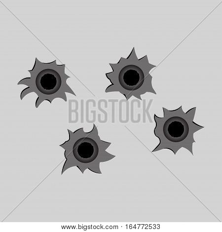 image bullet holes, shot, fully editable vector