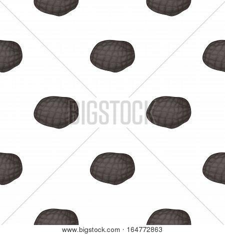 Black truffles icon in cartoon style isolated on white background. Mushroom pattern vector illustration.
