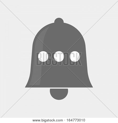 Isolated Bell With  An Ellipsis Orthographic Sign
