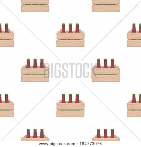 Box with beer icon in cartoon style isolated on white background. Oktoberfest pattern vector illustration.