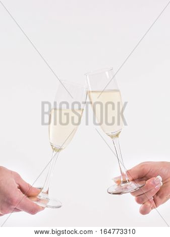 Toasting with champagne to a special occasion