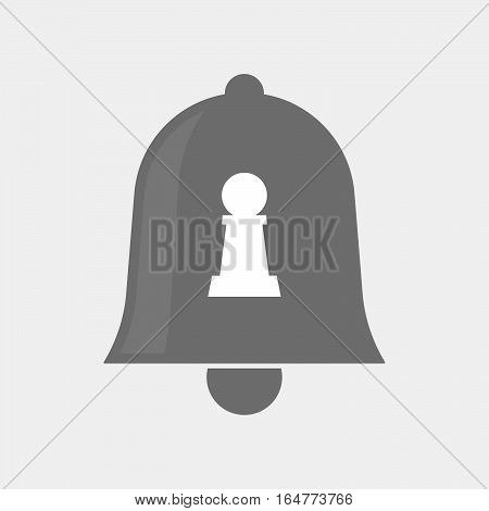Isolated Bell With A  Pawn Chess Figure