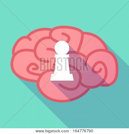 Long Shadow Brain With A  Pawn Chess Figure