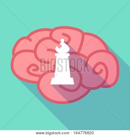 Long Shadow Brain With A Bishop    Chess Figure