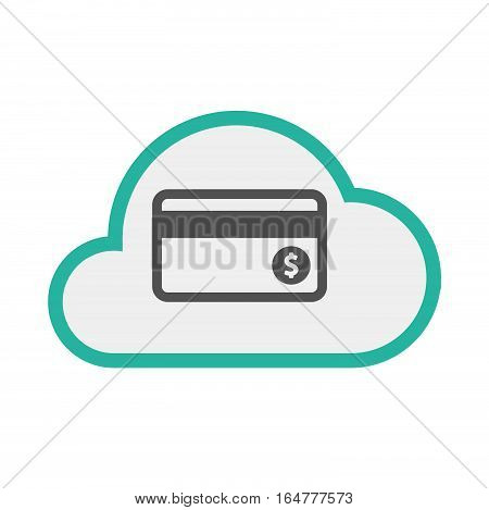 Isolated Cloud With  A Credit Card