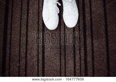 White Sneakers With Space For Text.