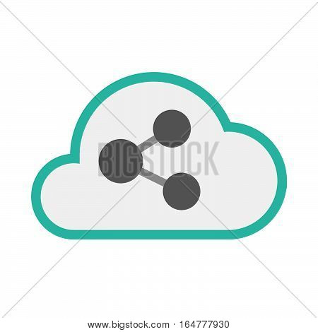 Isolated Cloud With  A Network Sign