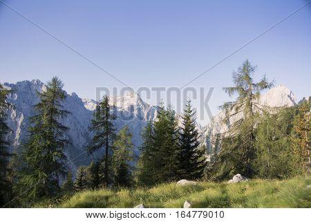Julian Alps, beautiful nature in mountains. Europe.