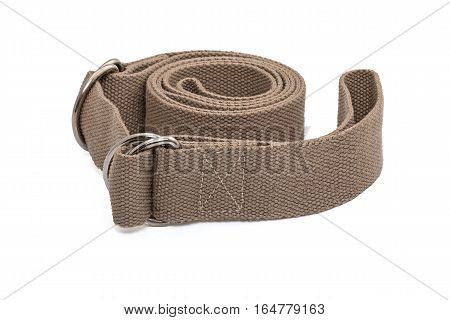 Yoga Mat Strap to carry mat and perform deep stretches on White Background
