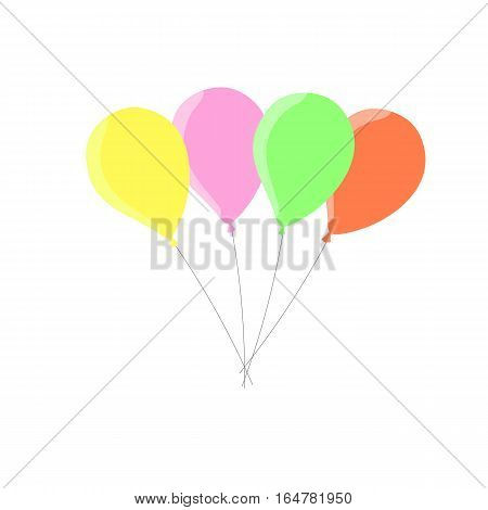 multicolored balloons colorful vector on white background