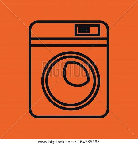 home appliance washer machine isolated icon vector illustration design