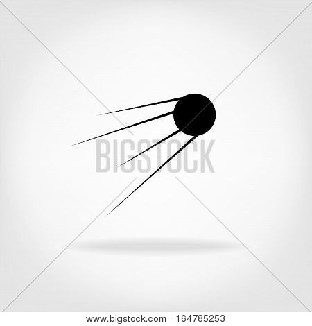 Vector satellite sign icon. Space object icon