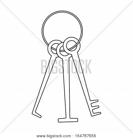 Hacker's lockpicks icon in outline design isolated on white background. Hackers and hacking symbol stock vector illustration.