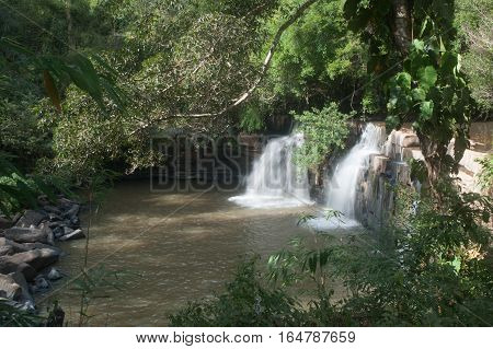 Sri Dit waterwall in Tungsalengluang National Park in Thailand.