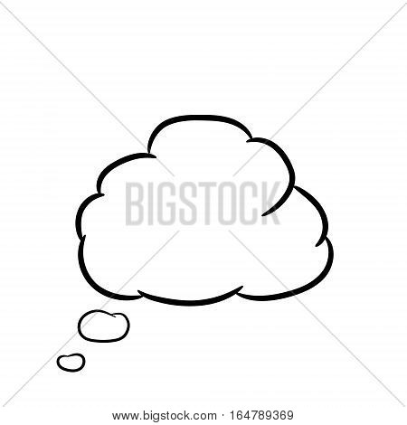 Cloud thought on white of vector illustrations