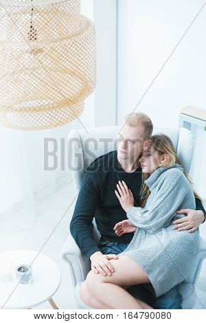 Romantic Couple Resting At Home