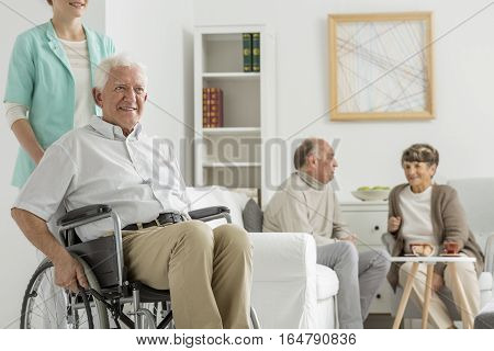 Retirement Home With Elder Man
