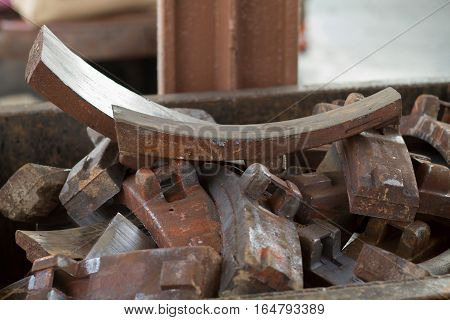 old brake block use for the train