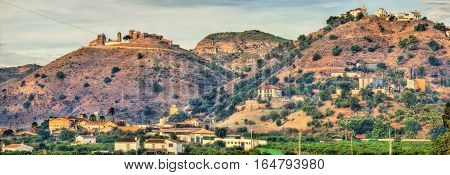 View of Alora Moorish Castle in Andalucia, Spain