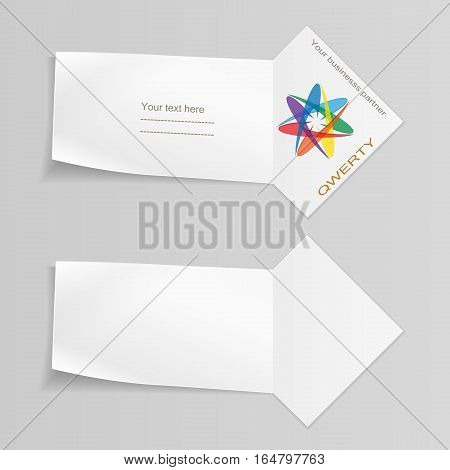 Set of banners with logo. Paper labels for your note, text. Ribbon, arrow icons. Stationery symbol. Vector isolated