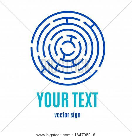 Labyrinth Banner Card for Your Business, Game, Books, Leisure. Vector illustration