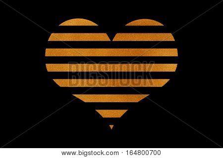 Golden Striped Heart.
