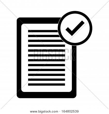 document with check mark icon image vector illustration design
