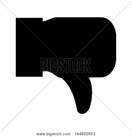 thumb down icon image vector illustration design