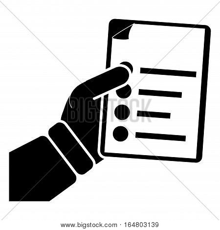 document with bullet points  icon image vector illustration design