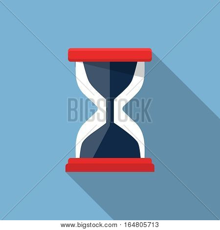 Sand clock illustration, design element for mobile and web applications, eps 10