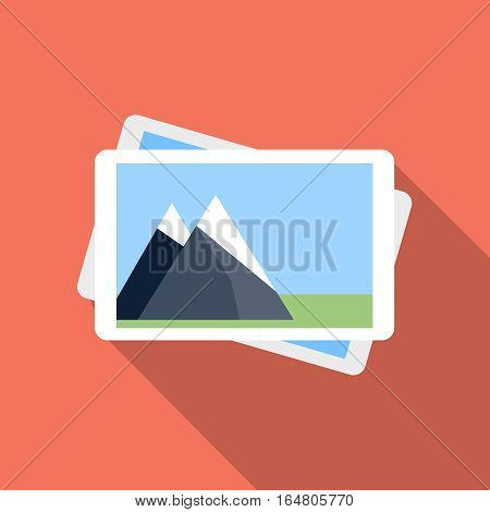 Photo gallery icon, design element for mobile and web applications, eps 10