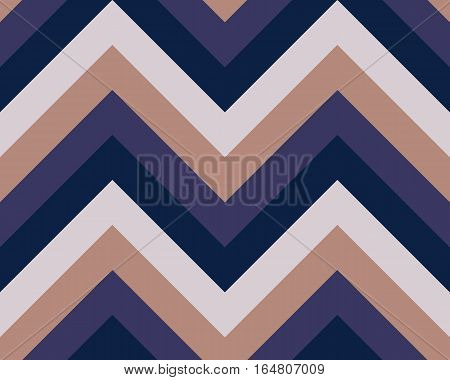 Striped, zigzagging seamless pattern. Zig-zag line texture. Stripy geometric background. Black, purple, light brown contrast colored. Winter theme. Vector