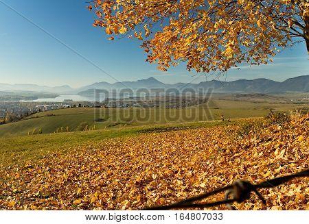 View from Haj - Nicovo in Choc mountains near Ruzomberok.