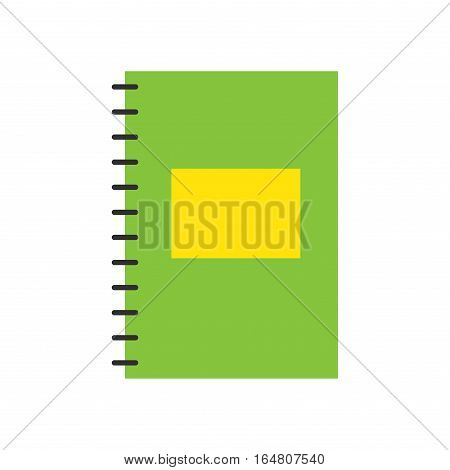 Blank realistic spiral notepad notebook isolated on white vector. Education school template design object. Clean document office equipment copybook.