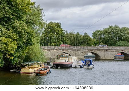 Stratford Upon Avon, United Kingdom - July 12, Bridge Over The Avon On July 12, 2016 In Stratford, U
