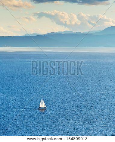 Sail Boat On Orid Lake