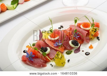 Slices Of Dried Salmon.