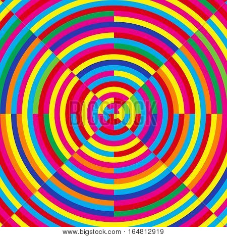 Moire effect, vector illustration, abstract color background