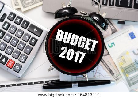 2017 Budget exercise or forecast with old clock concept
