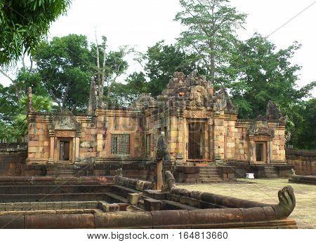 Prasat Hin Muang Tam, the Ancient Sanctuary in Buriram Province of Thailand