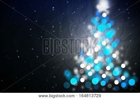 Blue Christmas tree design suggesting a perfect winter night