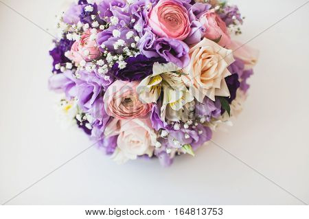 Flower composition. flower background. spring background. beautiful bouquet of flowers. wedding bouquet on a white background.