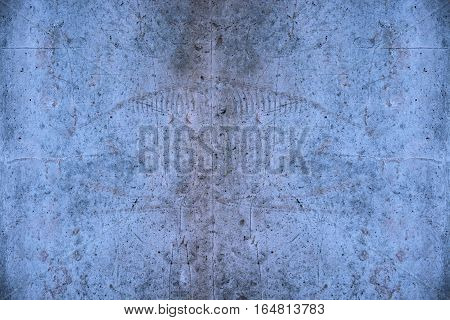 Degraded concrete pattern with blue color effect