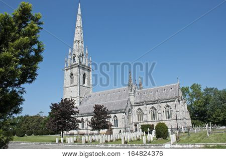 St Margaret's The Marble Church at Bodelwyddan summer North Wales UK